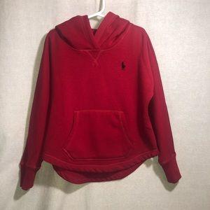 Ralph Lauren Boy's Red Pullover Hoodie size 6